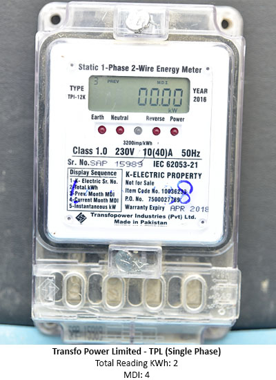Transfo Power Limited - TPL (Single Phase) - K-Electric