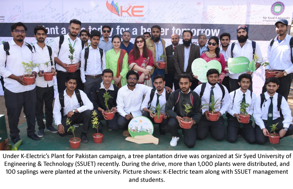 K-Electric Organizes Tree Plantation Drive at SSUET